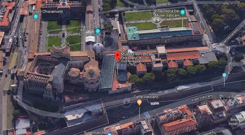 Billet Chapelle Sixtine Vatican plan