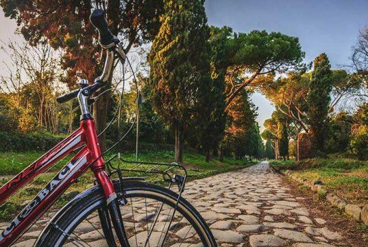 Via Appia en velo a Rome