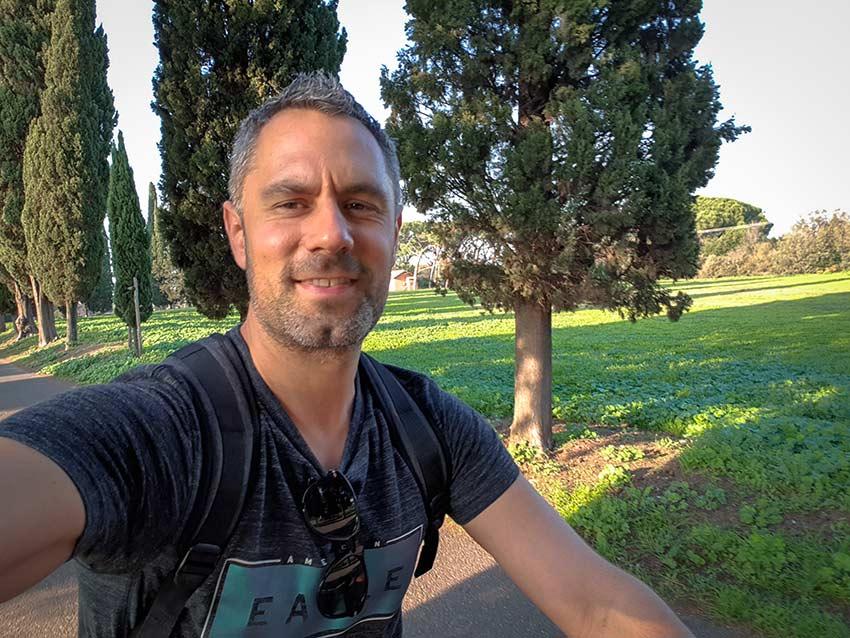Via Appia Antica en velo vicente