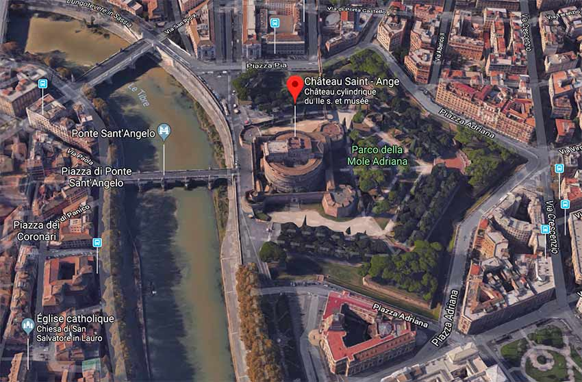 chateau saint ange rome plan