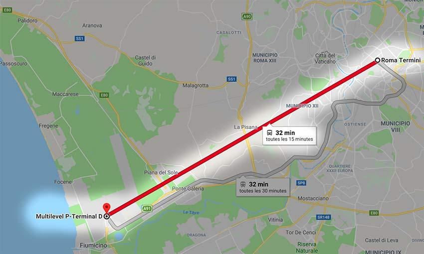 Plan-Metro-Rome-navette-aeroport-rome