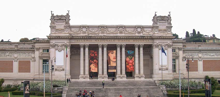 Parc Villa Borghese Rome-galerie-nationale-art-moderne-rome