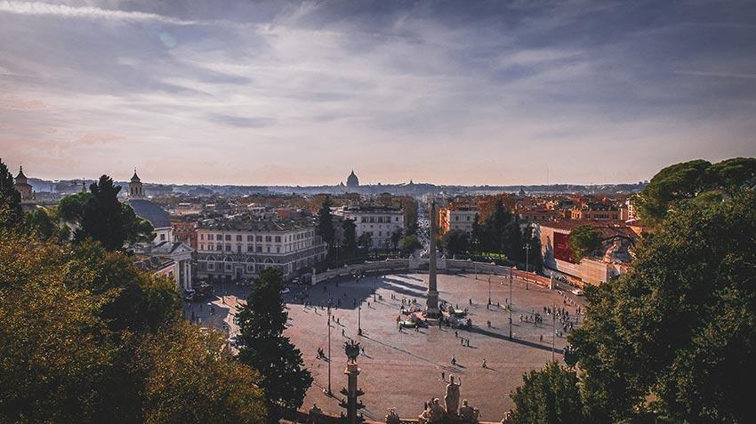 Parc Villa Borghese Rome-plaza-popolo